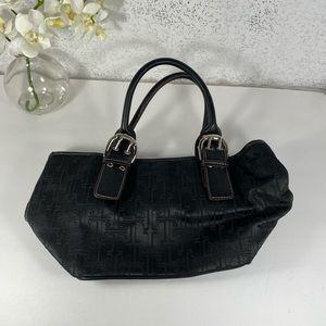 Mini Black Satchel Bag with Buckle Straps